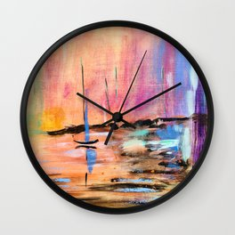 New Jersey Sunset Wall Clock