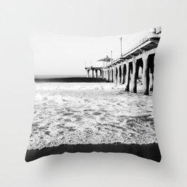 Manhattan Beach Pier Throw Pillow