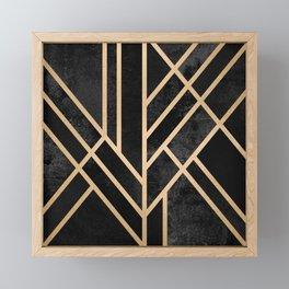 Art Deco Black Framed Mini Art Print