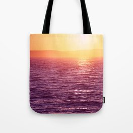 Beautiful sunset in Zadar, Croatia. Tote Bag