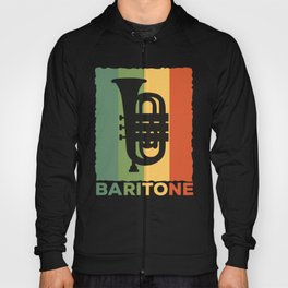 Baritone Retro Band Musician Vintage Lovers graphic Gift Hoody
