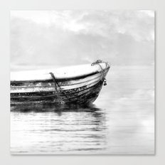 The boat b/w Canvas Print