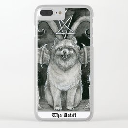 The Devil - Dog tarot card Clear iPhone Case