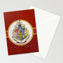 Red  Hp Stationery Cards