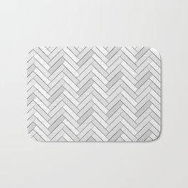 black and white geometric pattern, graphic design Bath Mat