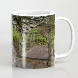 Footbridge & Waterfall in Autumn Coffee Mug