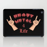 heavy metal iPad Cases featuring Heavy Metal 4 Life by Spooky Dooky