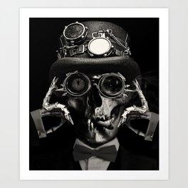 'Steampunk Deceased' Art Print