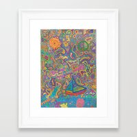 sublime Framed Art Prints featuring Sublime by Lily's Drawing Pad