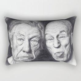 Patrick Stewart & Ian McKellen Rectangular Pillow