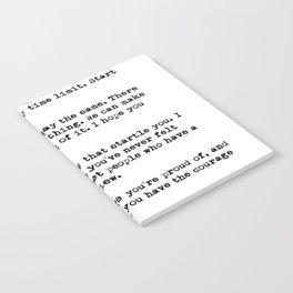 F Scott Fitzgerald quote Notebook