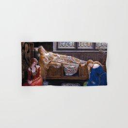 "John Maler Collier, "" The sleeping beauty "" Hand & Bath Towel"