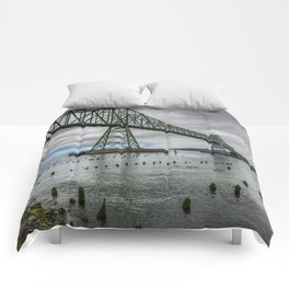 Astoria - Megler Bridge Comforters