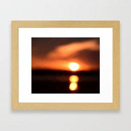 Sunset Through A Spiderweb Framed Art Print