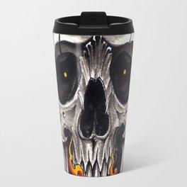 Skull in Flames Travel Mug