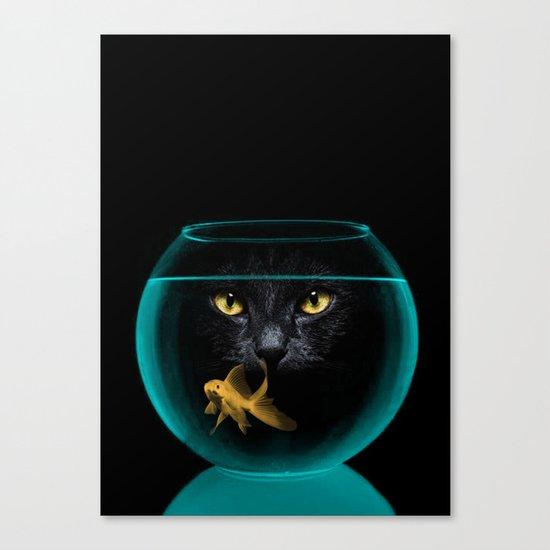 Black Cat Goldfish II Canvas Print