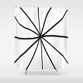 Funnies stripes 12 Black and white Shower Curtain