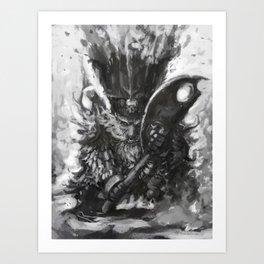 Aksha-Zharr, The Axeman Art Print