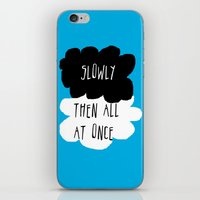 fault in our stars iPhone & iPod Skins featuring the fault in our stars by Kathy157