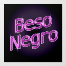 Beso Negro Canvas Print