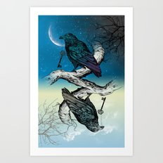 Raven's Key Night+Day Art Print