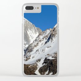 mountain covered in snow Clear iPhone Case