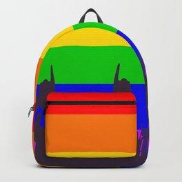 LGBT Rainbow Transgender Rainbow Flag With Waving Hands Backpack