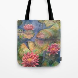 LilyPads and Lotus Flowers Tote Bag