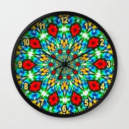 Folded Fabric Flower Wall Clock