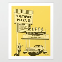Southside Plaza Art Print