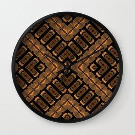 Abstract 355 a bronze tone geometric Wall Clock