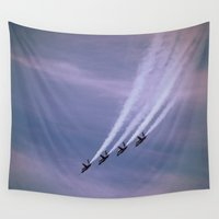 angels Wall Tapestries featuring Blue Angels by Nick Bizzack Designs