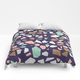 Colorful Modern Terrazzo Vector Pattern Comforters
