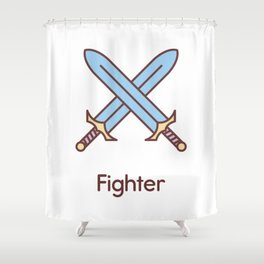 Cute Dungeons and Dragons Fighter class Shower Curtain