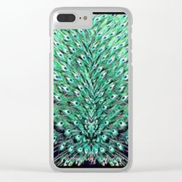 Peacock art Clear iPhone Case
