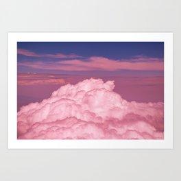 Pink Cotton Candy Clouds Art Print