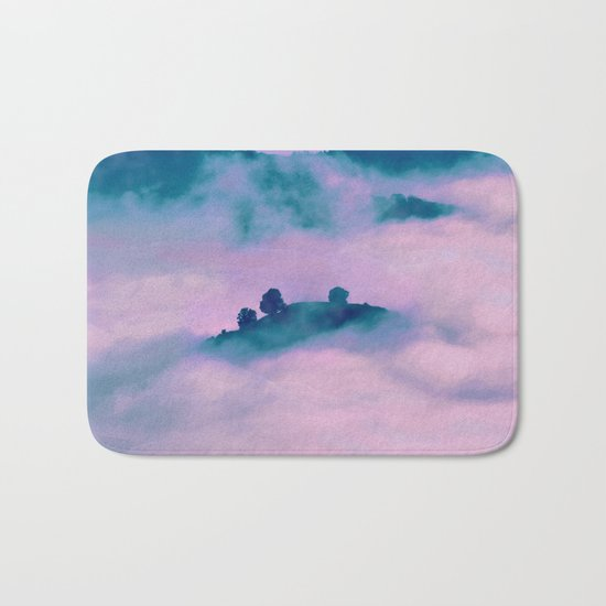 Forest land fog Bath Mat