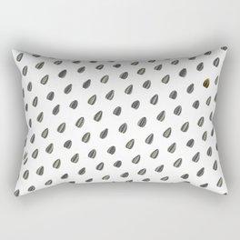 Pipas (sunflower seeds) pattern. Rectangular Pillow