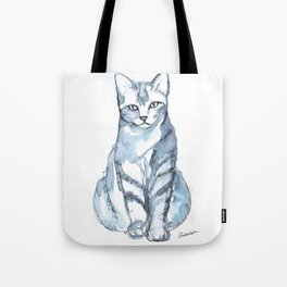 Cat with Stripes Tote Bag