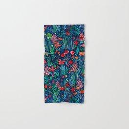 Tropical Ink - a watercolor garden Hand & Bath Towel