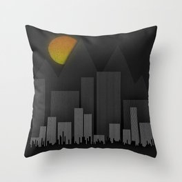 Heat Behind The Mountains Throw Pillow