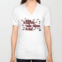 dramatical murder V-neck T-shirts featuring MURDER  -  021 by Lazy Bones Studios