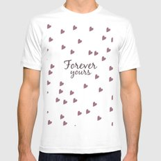 Forever Yours MEDIUM White Mens Fitted Tee