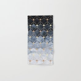Blue Hexagons And Diamonds Hand & Bath Towel