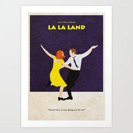 La La Land Alternative Minimalist Film Poster Art Print