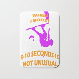 When I Boost 5-10 Seconds Is Not Unusual Neon Violet and Orange Bath Mat