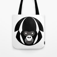 gorilla Tote Bags featuring Gorilla by Alvaro Tapia Hidalgo