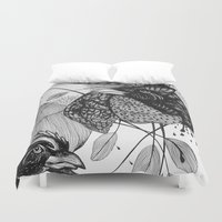 sketch Duvet Covers featuring Sketch by Cat Sims