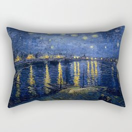Vincent van Gogh's Starry Night Over the Rhone Rectangular Pillow