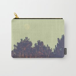 Moon over Pine Trees Carry-All Pouch